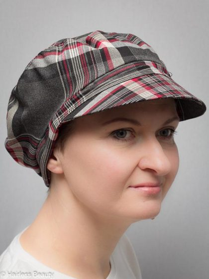 Poinsettia   Berets and hats for cancer and alopecia patients