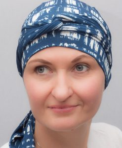 Narcissus Turquoise | Scarves for chemo and alopecia patients