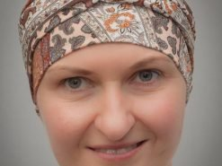 Narcissus Brown | Scarves for chemo and alopecia patients