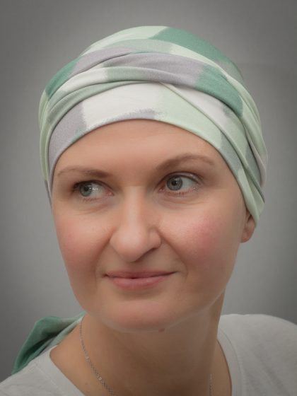 Narcissus Green   Scarves for chemo and alopecia patients