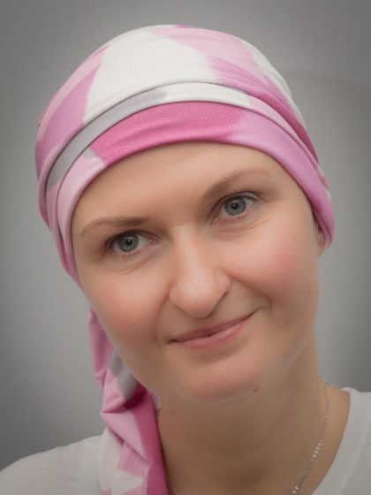 Narcissus Pink | Scarves for chemo and alopecia patients