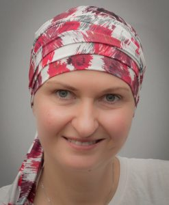Narcissus Red | Scarves for chemo and alopecia patients