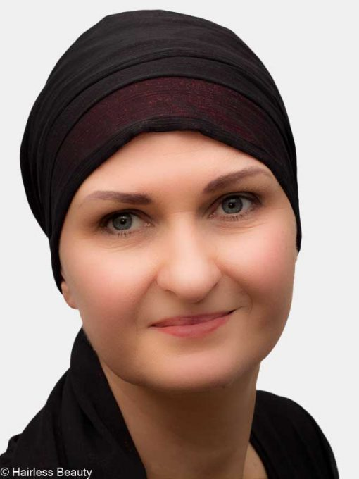 Elegant turban for hair loss due chemo and alopecia