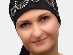 Elegant turban for hair loss due chemo and alopecia